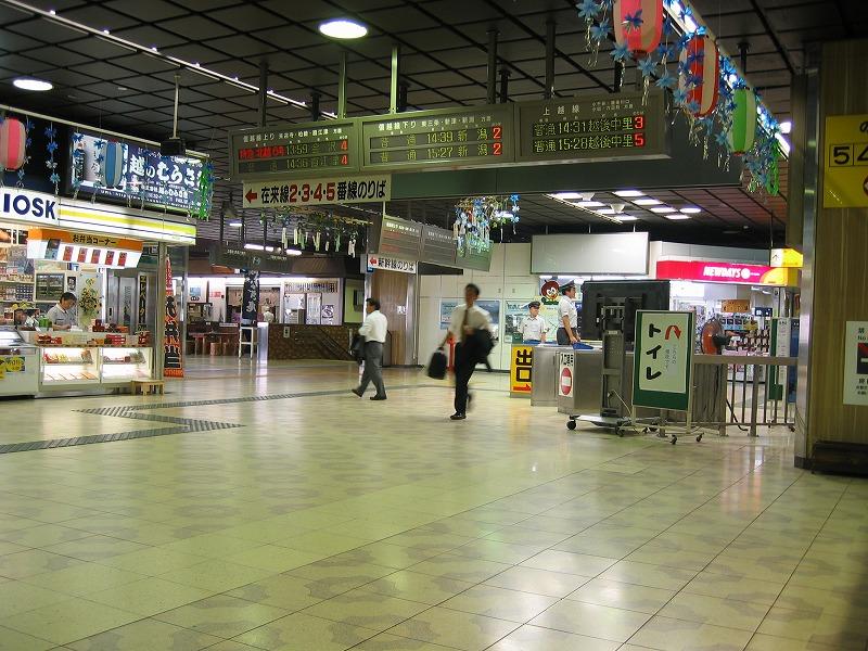 灼熱の長岡駅