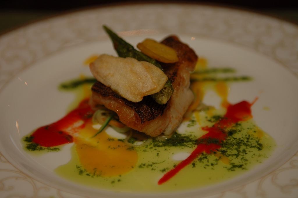 白身魚と乾燥野菜