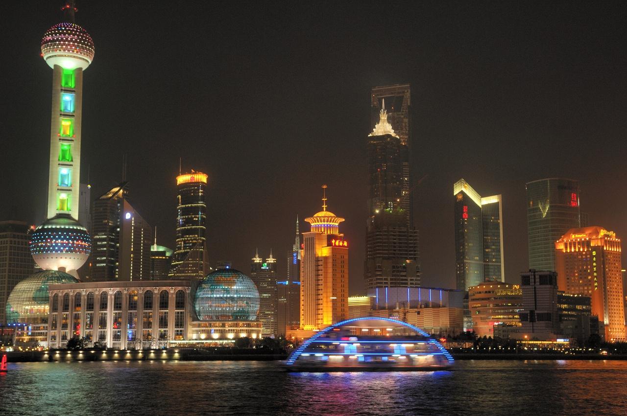上海、外灘の夜景3234