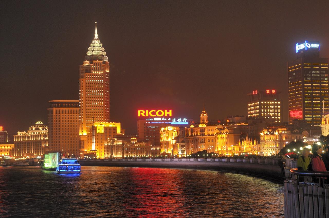 上海、外灘の夜景3243
