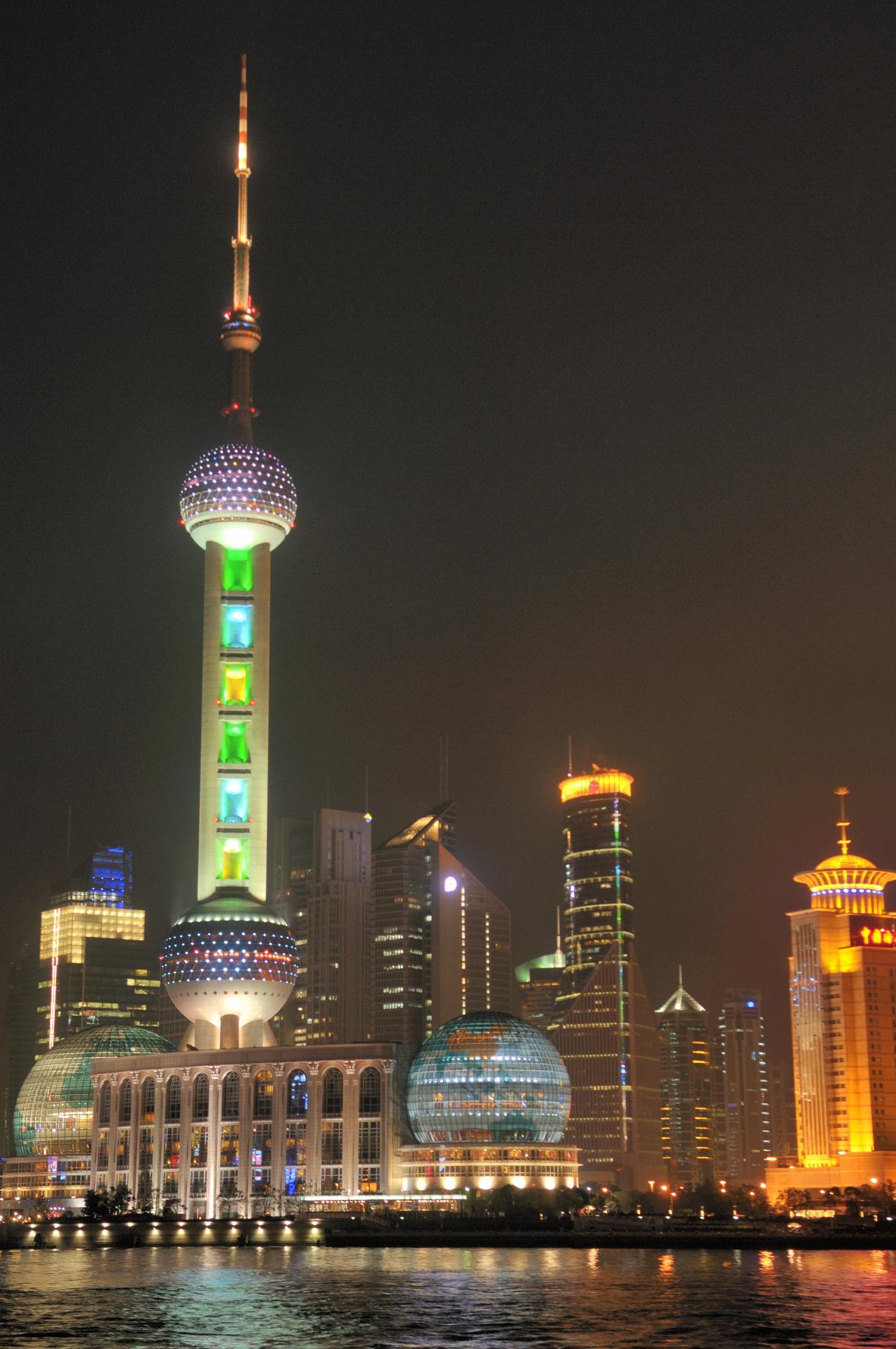 上海、外灘の夜景3266