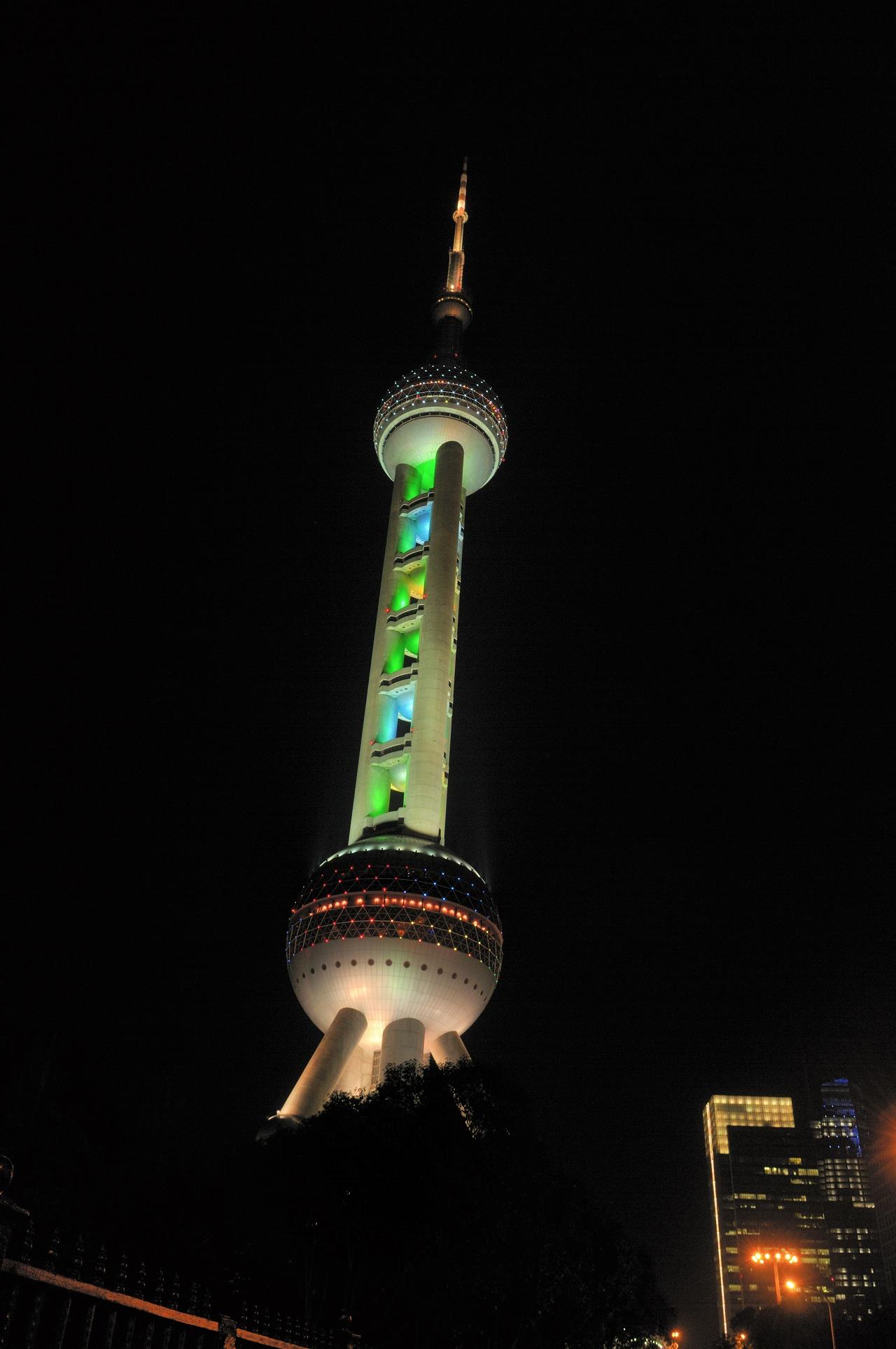 上海、外灘の夜景3278