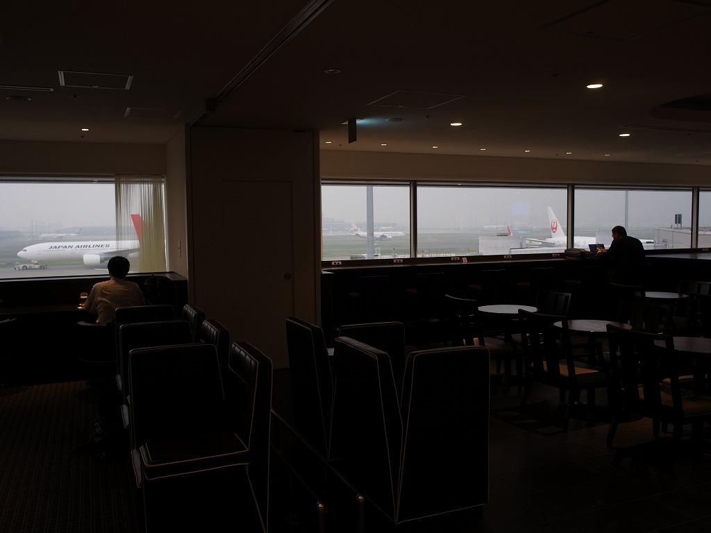 夕暮れ時の羽田空港