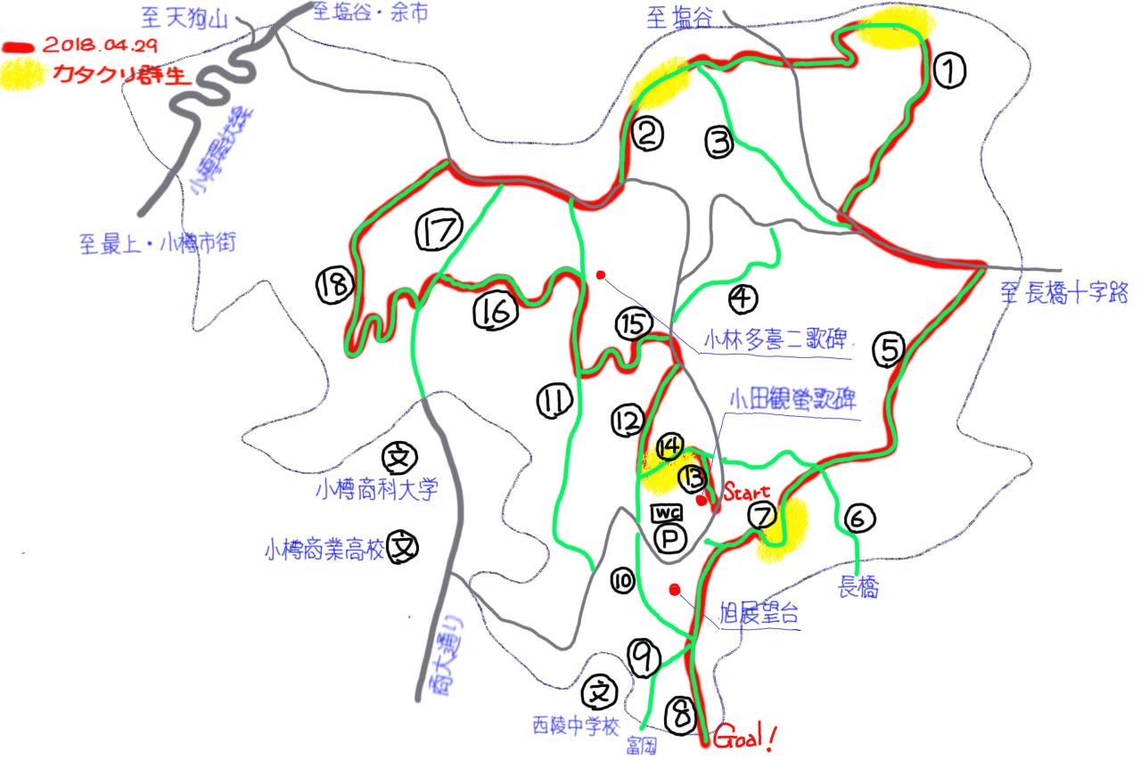 小樽市旭展望台周辺遊歩道